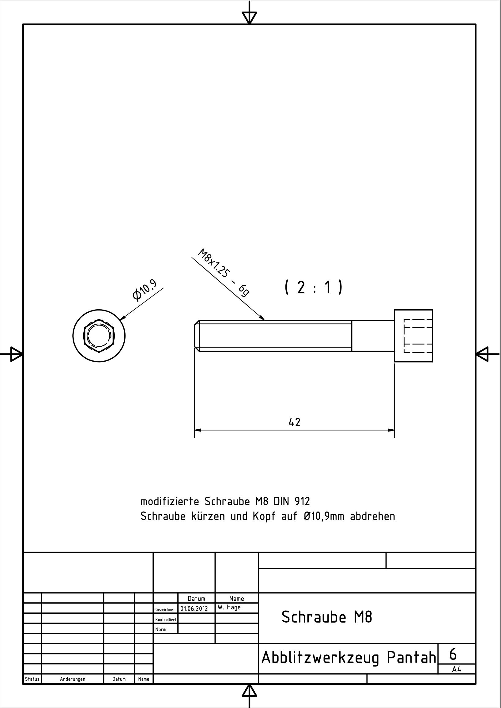 Abblitzwerkzeug Pantah 6