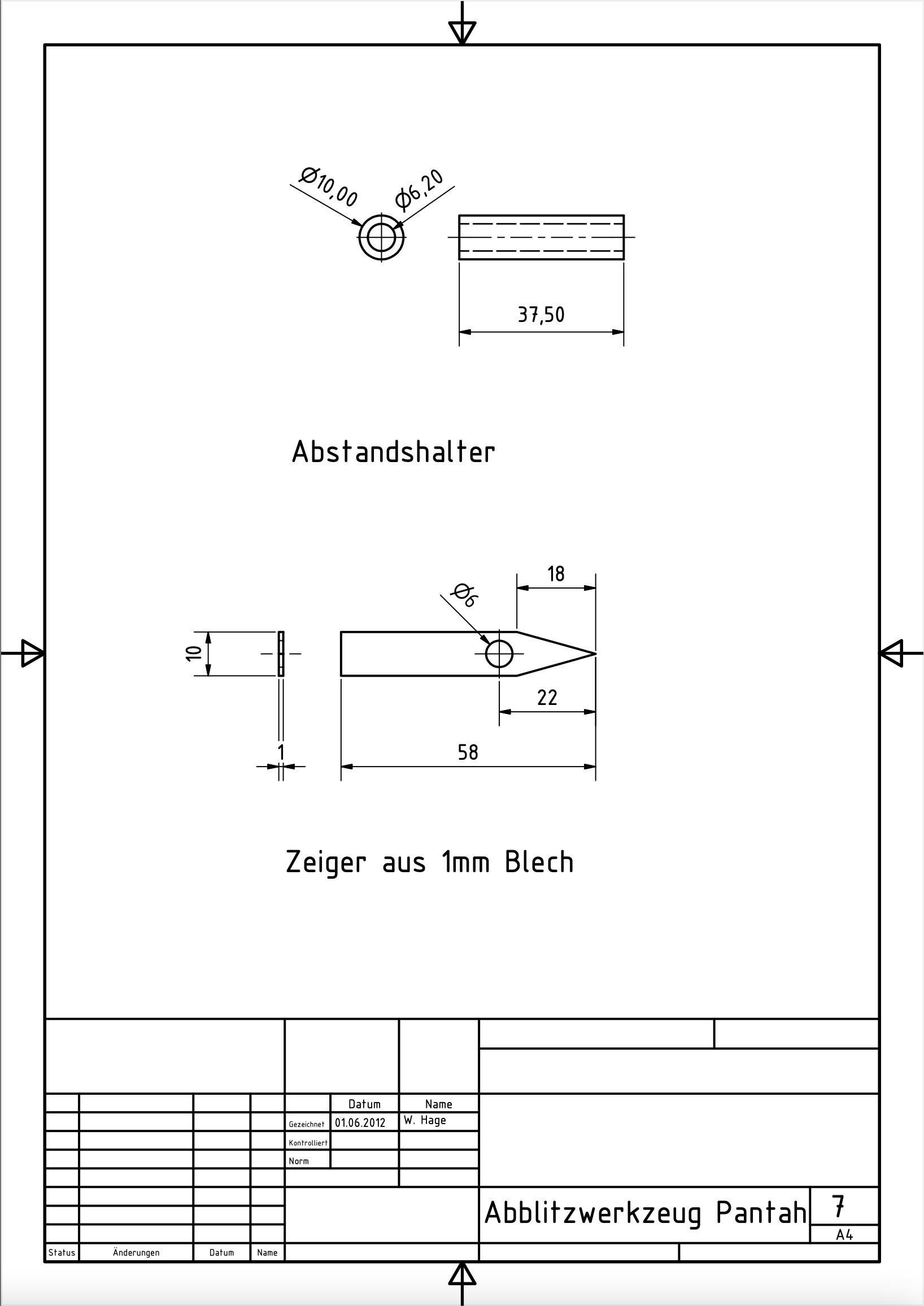 Abblitzwerkzeug Pantah 7
