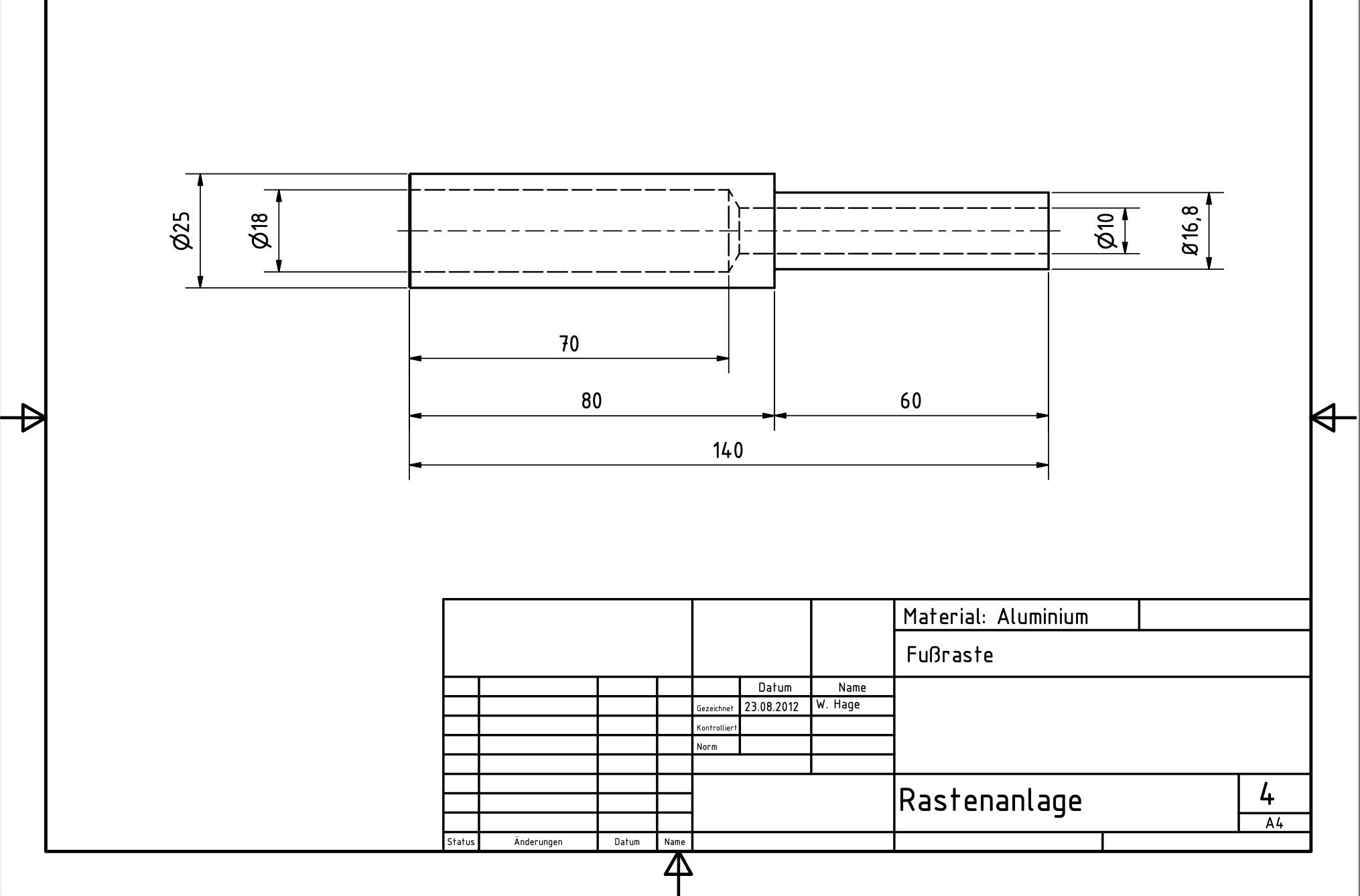 Fußrastenanlage Pantah 4