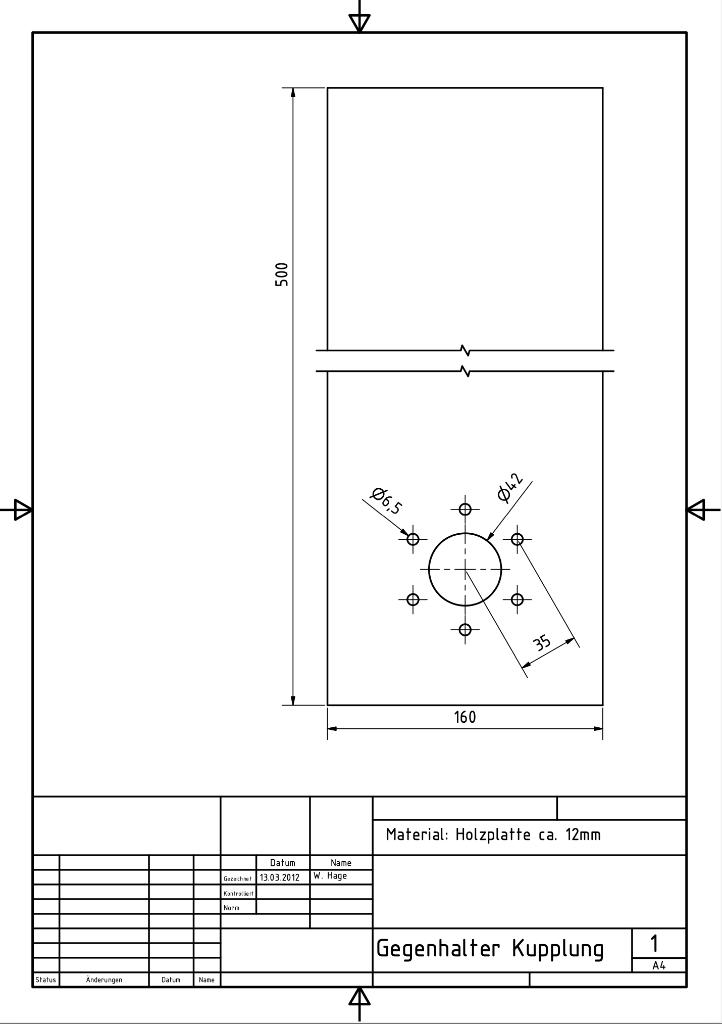 Gegenhalter-Kupplung-Pantah