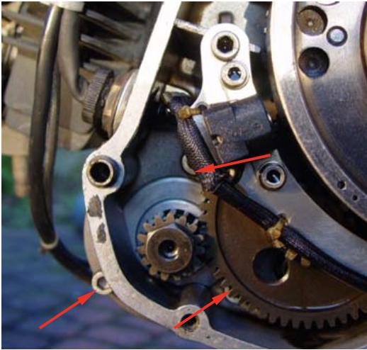 Reparatur eines Ducati-Pantah Anlassers
